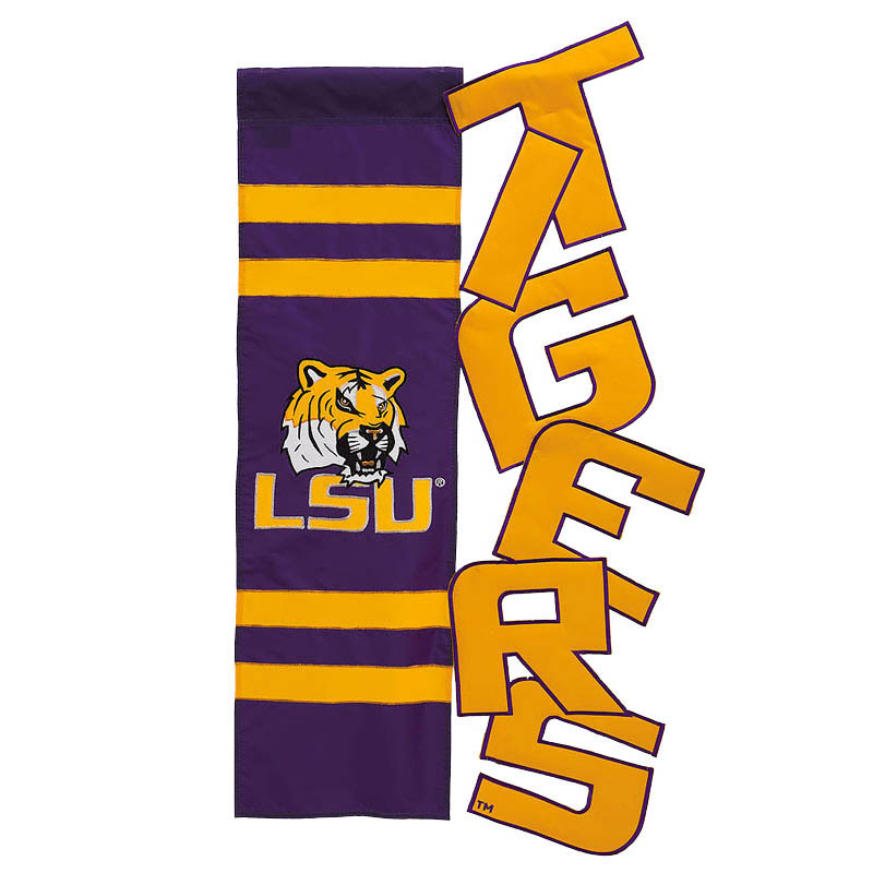 "LSU Tigers 28"" x 44"" Cutout Vertical Banner Flag"