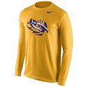 Nike LSU Men's Cotton Long Sleeve Logo T-Shirt - Gold