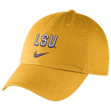 Nike LSU Heritage86 Wordmark Relaxed Unstructured Cotton Twill Hat - Gold