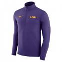 Nike LSU Men's Element 1/4 Zip Dri-Fit Pullover - Purple