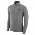Nike LSU Men's Element 1/4 Zip Dri-Fit Pullover - Dark Grey Heather