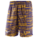 Nike LSU Men's Static Shorts - Purple and Gold