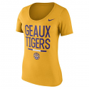 Nike LSU Women's Local DNA Athletic Cut Tee - Gold