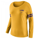 Nike LSU Women's Tailgate Long Sleeve Football Tee - Gold