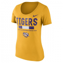 Nike LSU Women's DNA Sideline Scoop T-Shirt - Gold