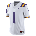 Nike LSU Men's #1 Limited Football Jersey - White