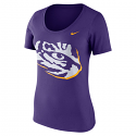 Nike LSU Women's Mod Tiger Eye Tee - Purple