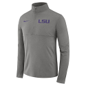 Nike LSU Men's Grey Half Zip Performance Pullover Top
