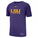 Nike LSU Men's Purple Marle Raglan Tee