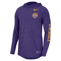 Nike LSU Men's Purple Pullover Hoodie Tee