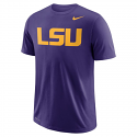 Nike LSU Men's Purple Dri-Fit Wordmark Tee