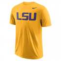 Nike LSU Men's Gold Dri-Fit Wordmark Tee