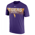 Nike LSU Men's Dri-Fit Legends Baseball Tee - Purple