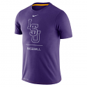 Nike LSU Men's Dri-Fit Dugout Baseball Tee - Purple