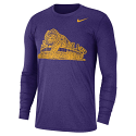 Nike LSU Men's Purple Trivault Long Sleeve Tee