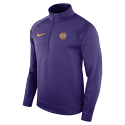 Nike LSU Men's Purple Therma Fleece Half Zip Top