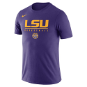 Nike LSU Men's Purple Dri-FIT Practice Basketball Tee