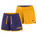 0077037800 Nike LSU Women's Reversible Shorts - Purple and Gold
