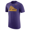 Nike LSU Men's Purple Heather Trivault Tee