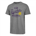 LSU Men's Grey Vintage Tri-Blend Grand Baseball Tee