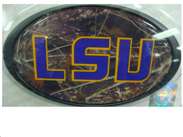 "LSU Oval Logo Hitch Cover fits 1.25"" Receiver - Camo"