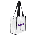 LSU Tigers Clear Vinyl Logo Tote Bag with Black Trim