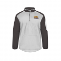 Badger LSU White & Grey Field Pullover Wind Jacket