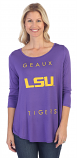 LSU Women's Power Logo Top - Purple