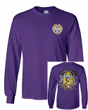 Bayou LSU Unisex Purple Can't Hold That Tiger Long Sleeve Ultra Cotton T-Shirt