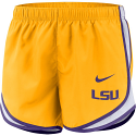 Nike LSU Women's Gold Dri-FIT Tempo Shorts