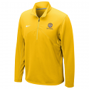 Nike Men's Gold Quarter Zip Dri-FIT Pullover Training Jacket