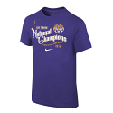 LSU Nike YOUTH College Football Playoff 2019 National Champions CELEBRATION Parade T-Shirt - Purple