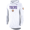 Nike LSU Off White Long Sleeve Dri-FIT Cotton Slub Hoody Foorball Tee
