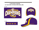 LSU 4-Time College Playoff National Champions Purple & Gold Hat