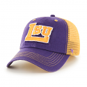 LSU Tigers '47 Brand Big Little LSU Closer Logo Mesh Stretch Fit Hat - Purple and Gold