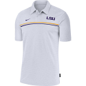 Nike LSU On-Field 2020 Early Season Coaches Performance Polo - White