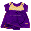 LSU Infant Purple Mesh Dress