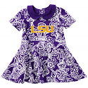 Colosseum LSU Infant Girl's Purple Sasha Onesie Dress