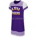 LSU Girl's Don't Be Talkin' Mesh Dress - Purple and White