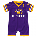 Colosseum LSU Infant Boy's Purple #1 Bumpo Onesie Football Jersey