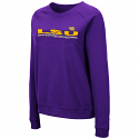 Colosseum LSU Women's Purple Magda Pullover Crew Sweat Shirt