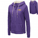 Colosseum LSU Women's Purple Charlotte Full Zip Hoodie