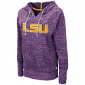 Colosseum LSU Women's Purple Bradshaw Pullover V-Neck Hoodie