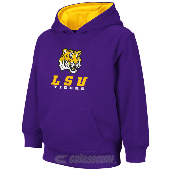 Colosseum Athletics LSU Tigers Kids Purple SwiftPerformance Hoodie