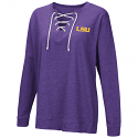 Colosseum LSU Women's Purple Lace Up Long Sleeve Tee