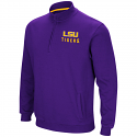 Colosseum LSU Men's Purple Half Zip Playbook Jacket