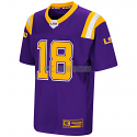 LSU Colosseum Youth Boy's Purple #18 Football Jersey