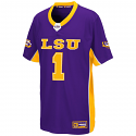 Colosseum LSU Youth Purple #1 Max Power Football Jerey - Medium Only