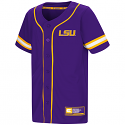 Colosseum LSU Youth Play Ball Baseball Jersey - Purple