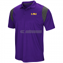 LSU Men's Purple & Grey Walter Short Sleeve Polo
